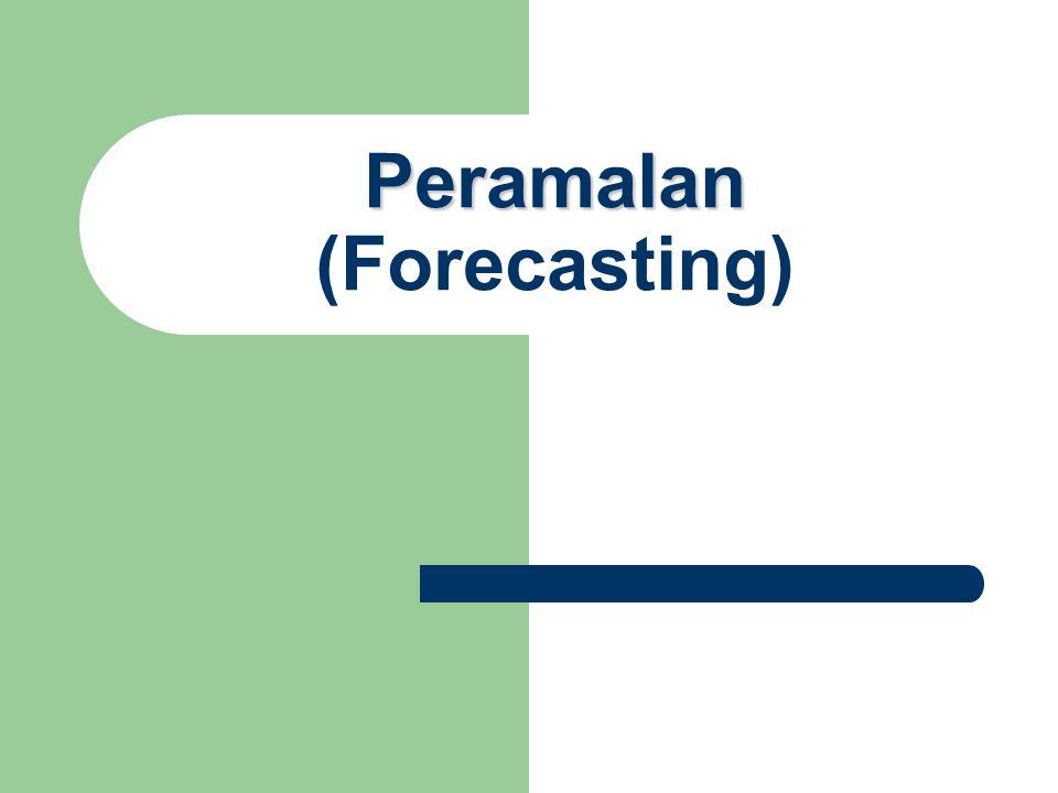 Peramalan Peramalan (Forecasting)