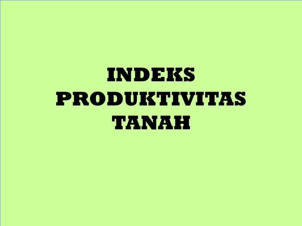 INDEKS PRODUKTIVITAS TANAH