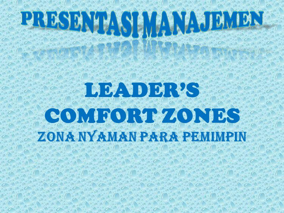 LEADER'S COMFORT ZONES Zona Nyaman Para Pemimpin