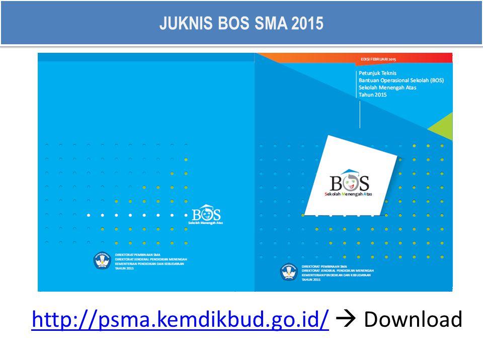 JUKNIS BOS SMA 2015 http://psma.kemdikbud.go.id/http://psma.kemdikbud.go.id/  Download