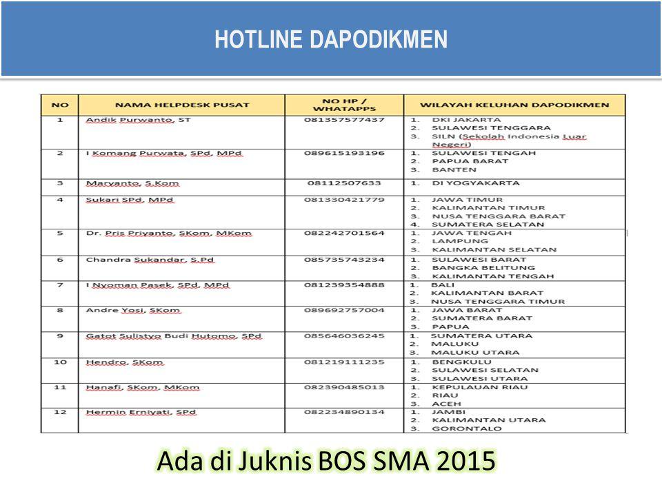 APLIKASI BOS 2015 http://dapo.dikmen.kemdikbud.go.id/ http://bansos.dikmen.kemdikbud.go.id/bos/