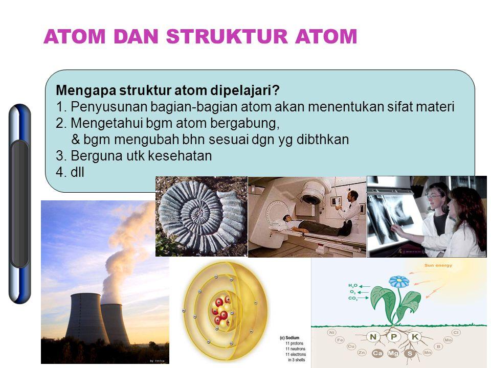 Atom sgt kecil & tdk dpt dilihat Rekaman bayangan atom: 1.Prof. Albert Crewe (Univ. Chicago, 1970) Bayangan atom U & Th 2.Gert Erlich & W.R.Graham (Un