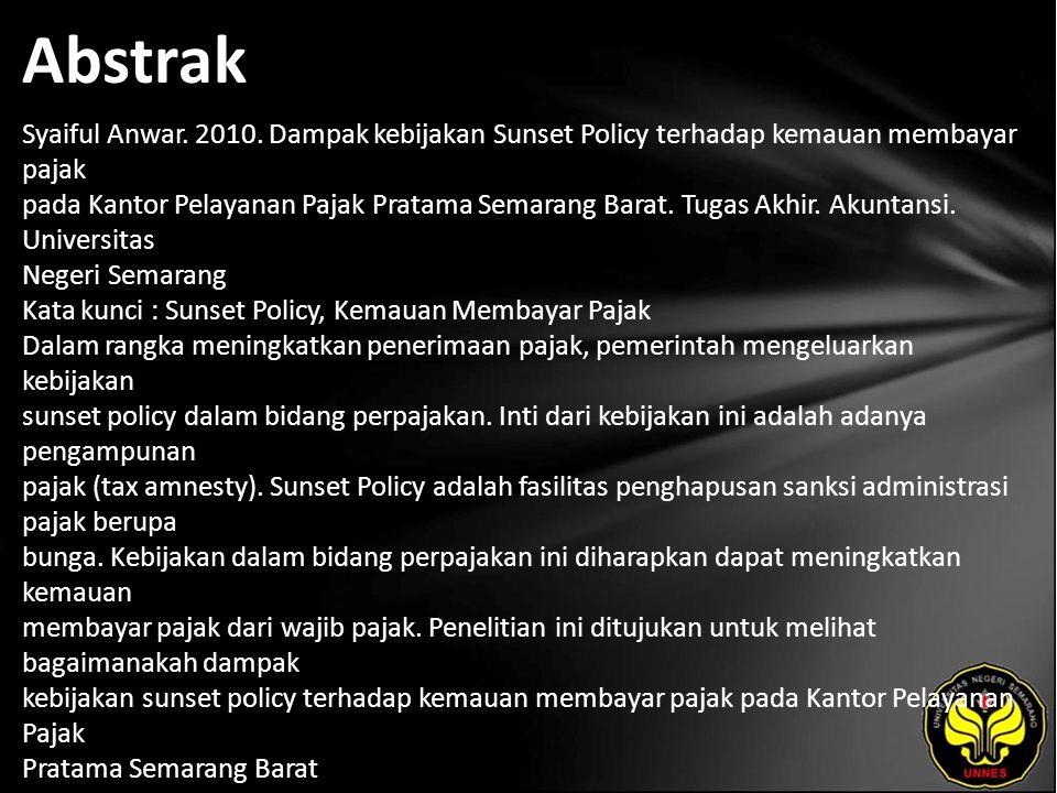 Abstrak Syaiful Anwar. 2010.