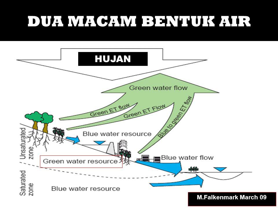 Sumberdaya Air Hijau – Air Biru 100% 60% 40% India Kenya M.Falkenmark March 09