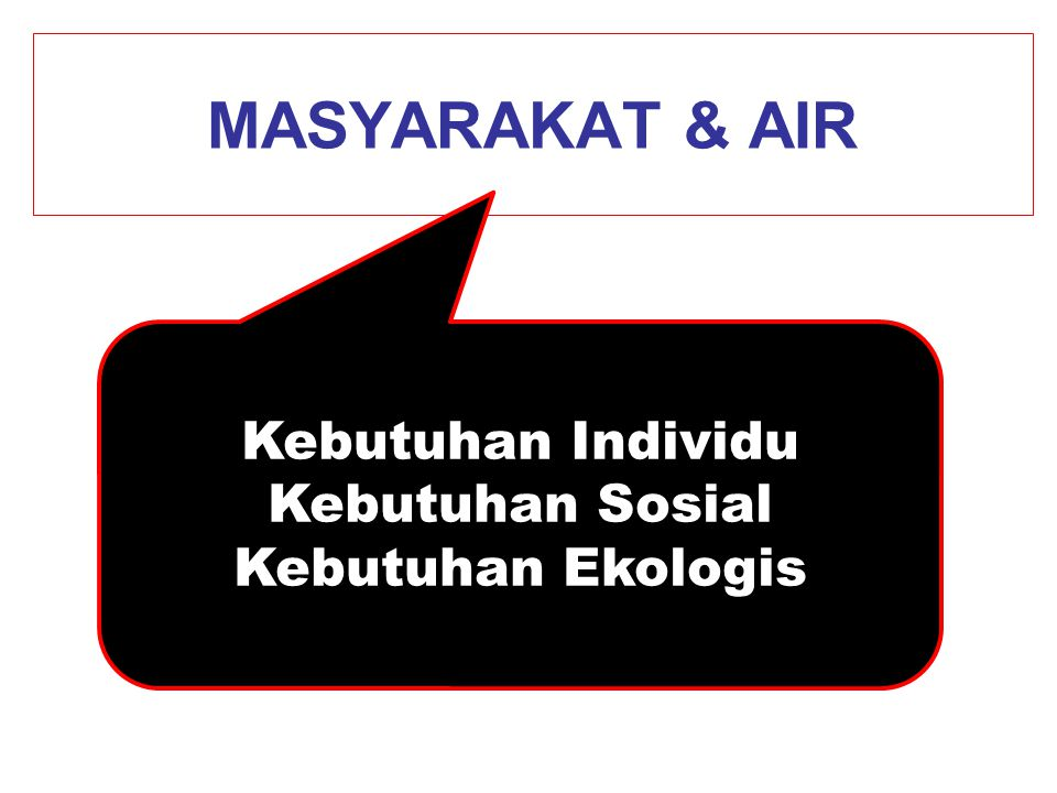 Mengurangi Defisit Air Limited population growth (UN rather than A2 scenario) 2000 km3/yr Perbaikan efisiensi air 2220 Pembangunan Irigasi 430 Food import from water surplus countries 750 Cropland expansion into non-permanent pastures 130 Unresolved ultimate water deficit 1270 M.Falkenmark March 09