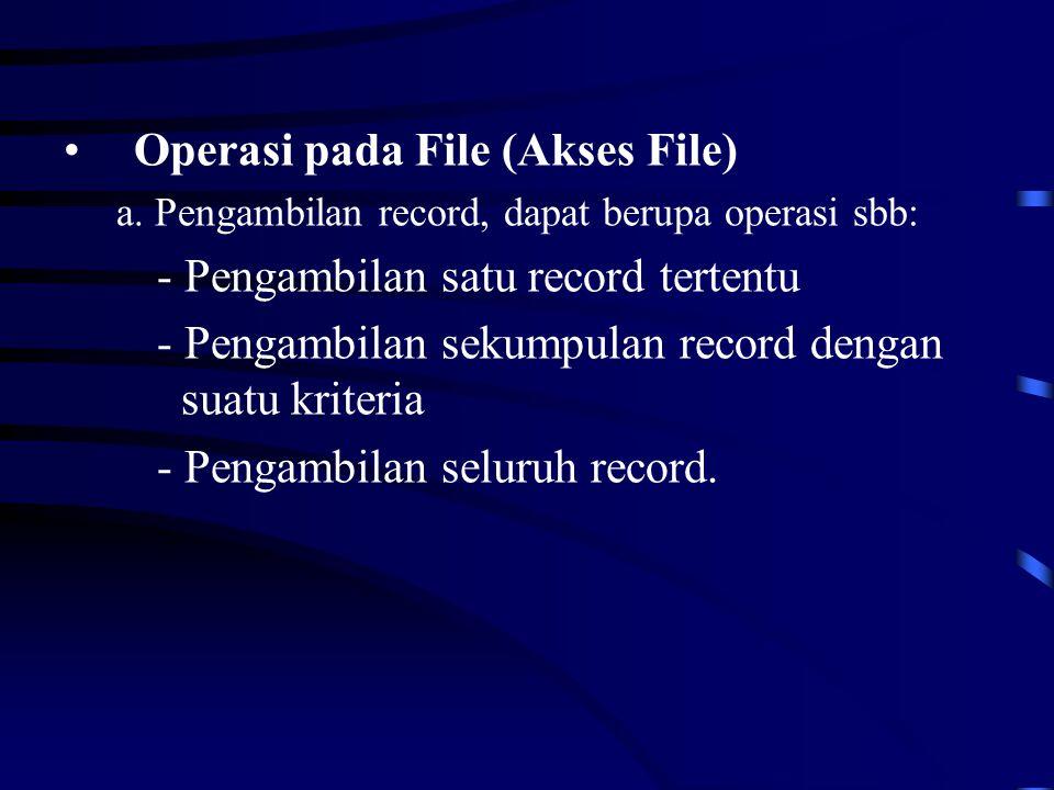 Operasi pada File (Akses File) a.