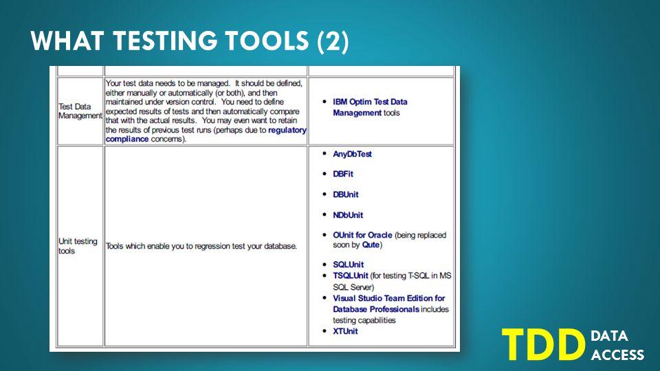 DATA ACCESS TDD HOW Bagaimana cara testing.