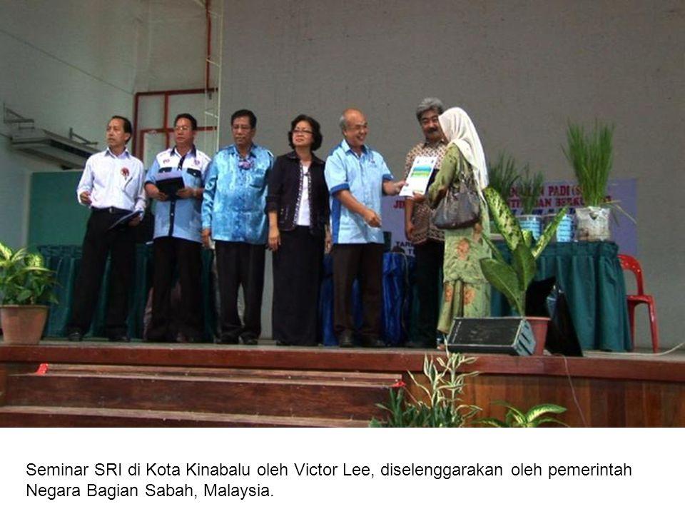 Seminar SRI di Kota Kinabalu oleh Victor Lee, diselenggarakan oleh pemerintah Negara Bagian Sabah, Malaysia.