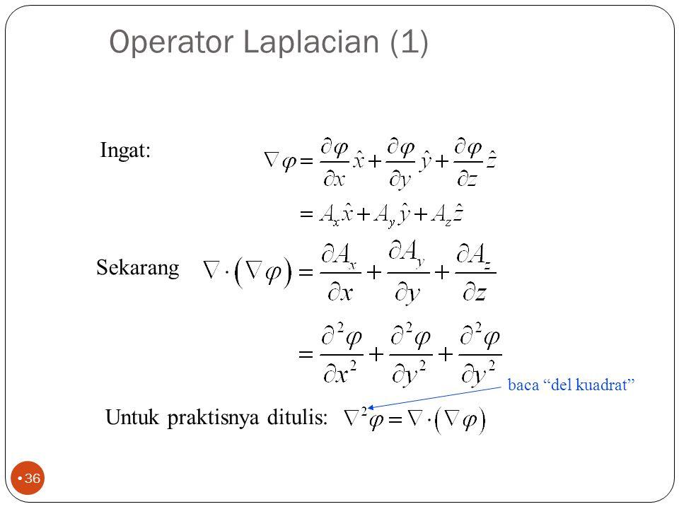 Operator penting lainnya 35 Dua rumus ini sangat bermanfaat pd pembaha- san mendatang.