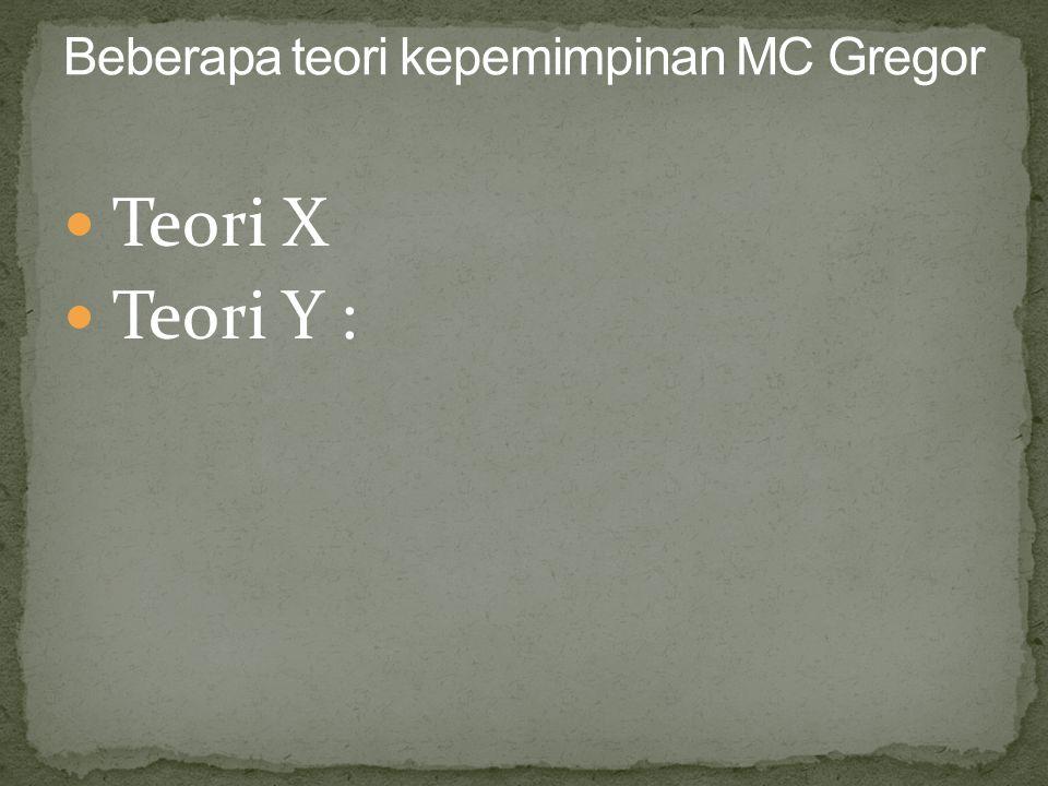 Teori X Teori Y :
