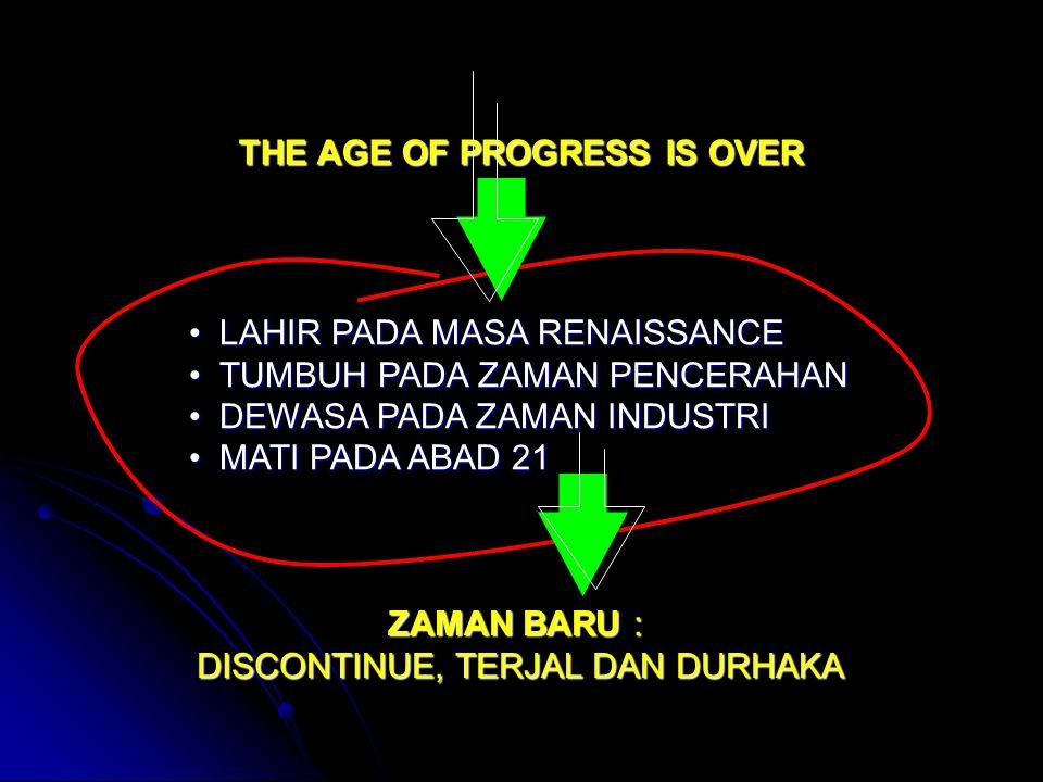 THE AGE OF PROGRESS IS OVER LAHIR PADA MASA RENAISSANCELAHIR PADA MASA RENAISSANCE TUMBUH PADA ZAMAN PENCERAHANTUMBUH PADA ZAMAN PENCERAHAN DEWASA PAD