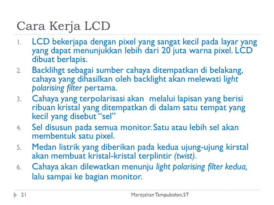 Cara Kerja LCD 1.