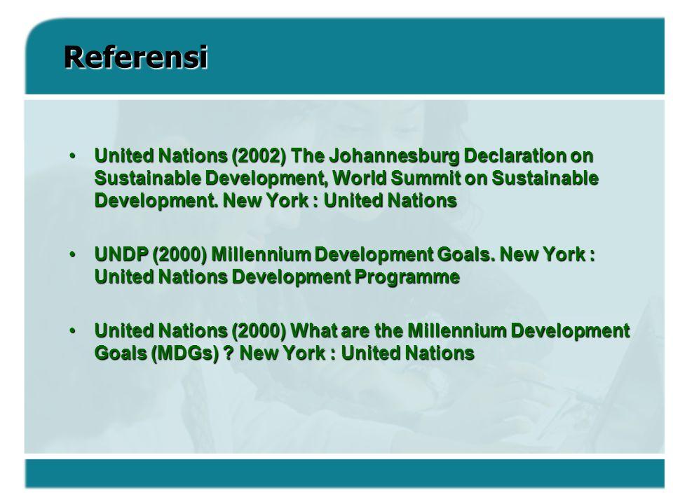 Goal atau Sasaran 8 : Mengembangkan kemitraan Global untuk pembangunan Target 12.Target 12.