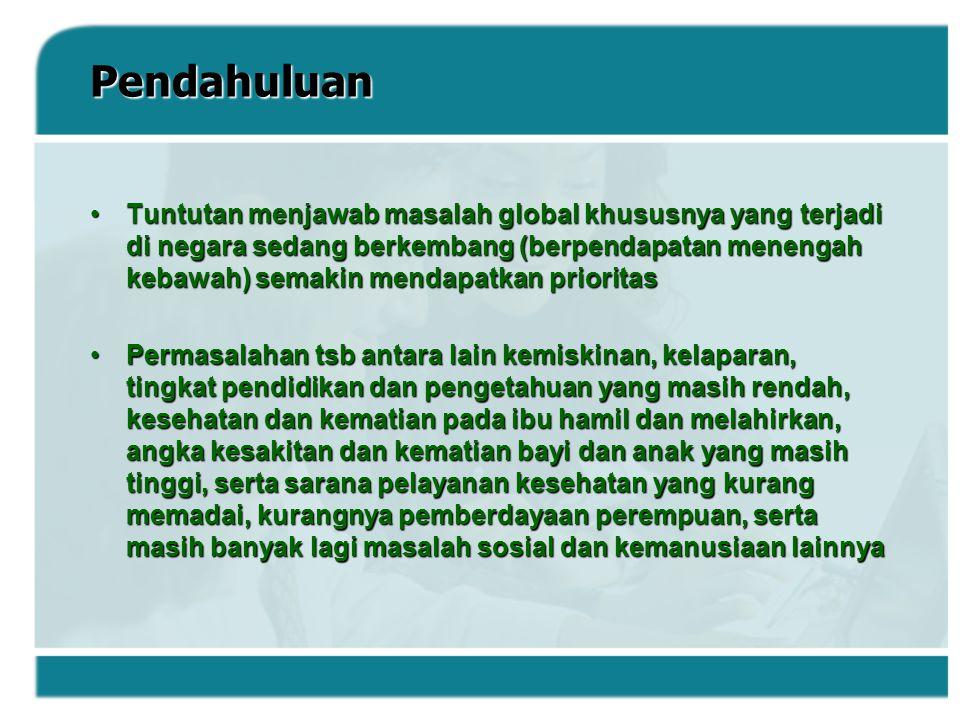 Kesetaraan Gender Dan Pemberdayaan Perempuan Di Indonesia Indonesia telah banyak kemajuan dalam mengatasi kesenjangan laki-laki dan perempuan, dimana program wajib belajar membawa dampak positif dalam kesenjanganIndonesia telah banyak kemajuan dalam mengatasi kesenjangan laki-laki dan perempuan, dimana program wajib belajar membawa dampak positif dalam kesenjangan Rasio murid laki-laki dan perempuan 100%, walau masih banyak anggapan salah dlm seteraan gender di masyarakat di semua aspek kehidupan : mulai dari pekerjaan (kesempatan dan kesetaraan imbalan), sampai pada keterwakilan di bidang politikRasio murid laki-laki dan perempuan 100%, walau masih banyak anggapan salah dlm seteraan gender di masyarakat di semua aspek kehidupan : mulai dari pekerjaan (kesempatan dan kesetaraan imbalan), sampai pada keterwakilan di bidang politik Proporsi perempuan dlm pekerjaan non-pertanian relatif stagnant (33 %) dan keterwakilan perempuan di parlemen masih sekitar 11 %Proporsi perempuan dlm pekerjaan non-pertanian relatif stagnant (33 %) dan keterwakilan perempuan di parlemen masih sekitar 11 %