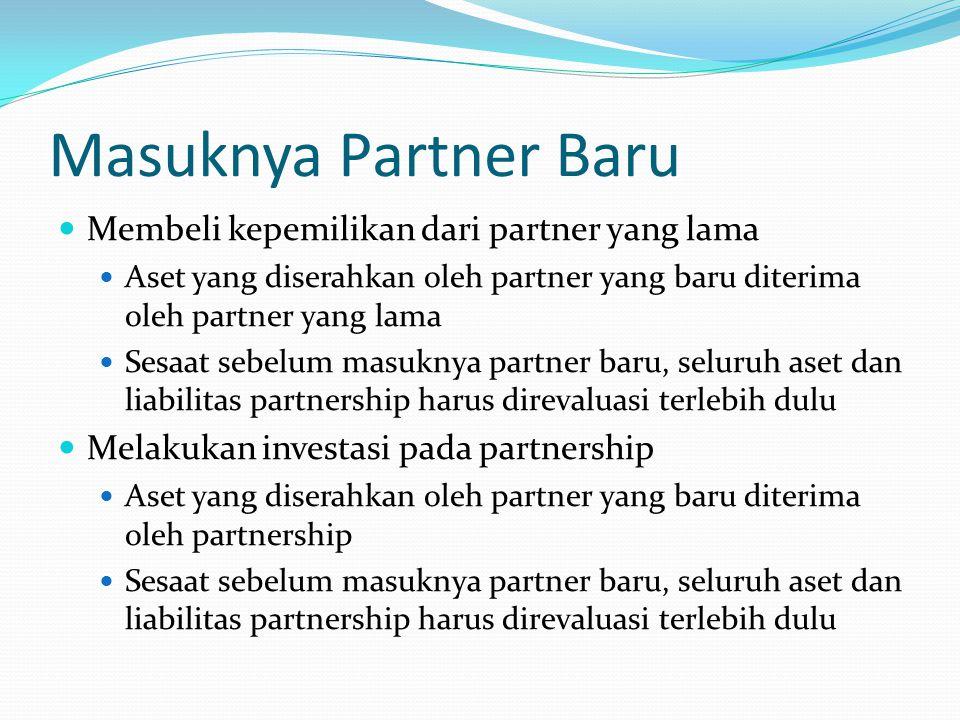 Masuknya Partner Baru (Ilustrasi) Firma AB memiliki total modal sebesar Rp150.000.000,00 terdiri dari Modal A Rp100.000.000,00 dan Modal B Rp50.000.000,00.