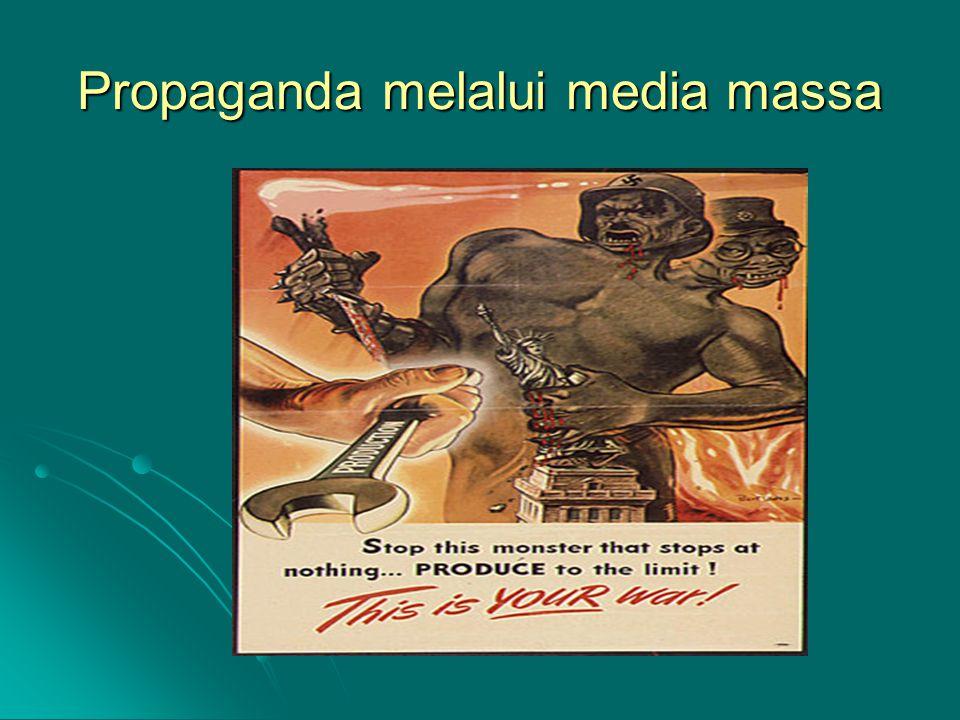 Propaganda melalui media massa