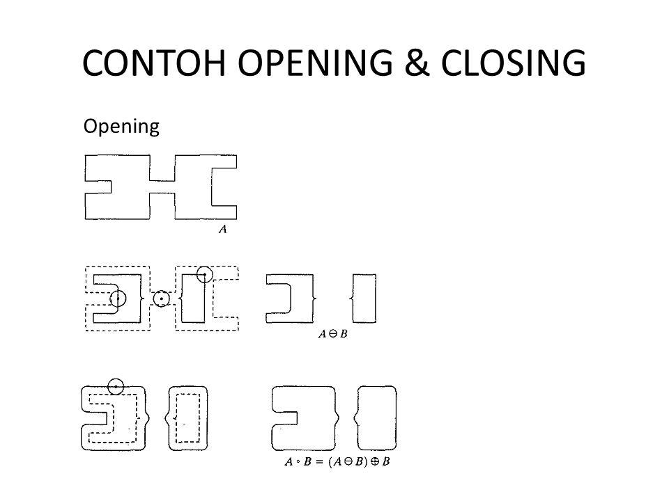 CONTOH OPENING & CLOSING Opening