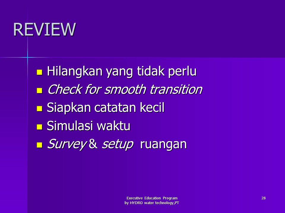 Executive Education Program by HYDRO water technology,PT 29 LATIHAN PRESENTASI 1.