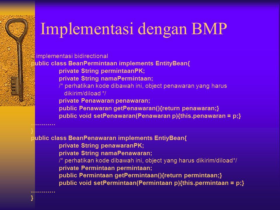 Directionality Implementasi dengan BMP Implementasi dengan CMP
