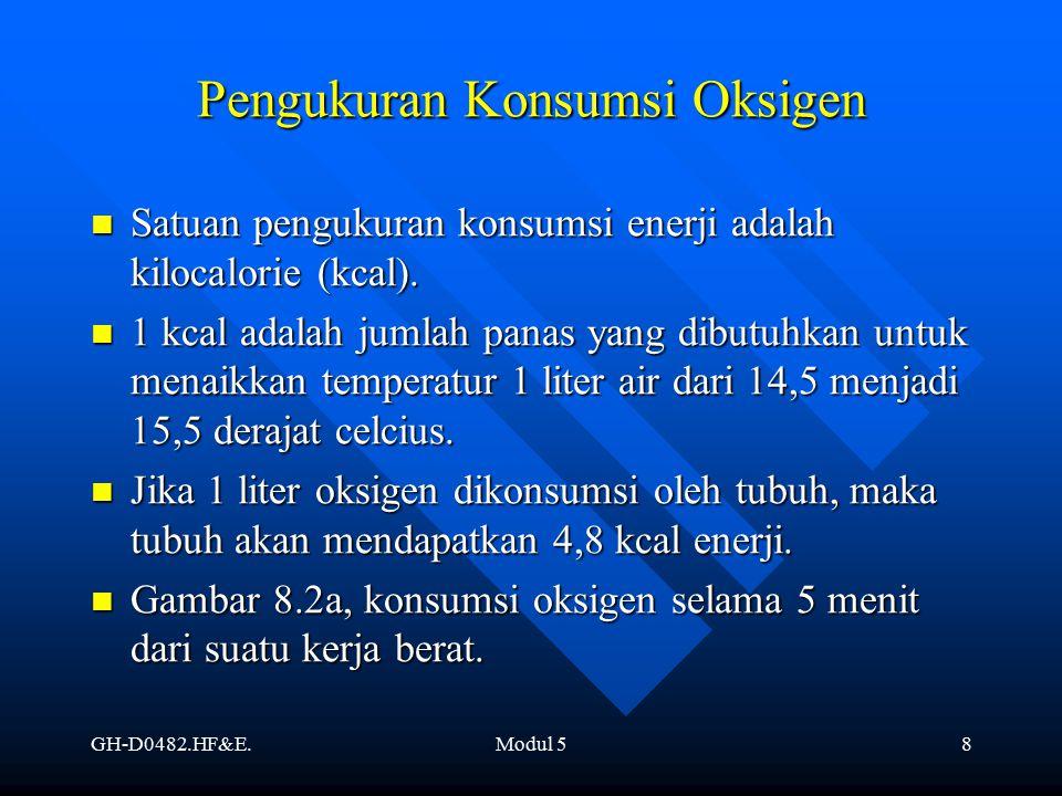 GH-D0482.HF&E.Modul 58 Satuan pengukuran konsumsi enerji adalah kilocalorie (kcal). Satuan pengukuran konsumsi enerji adalah kilocalorie (kcal). 1 kca