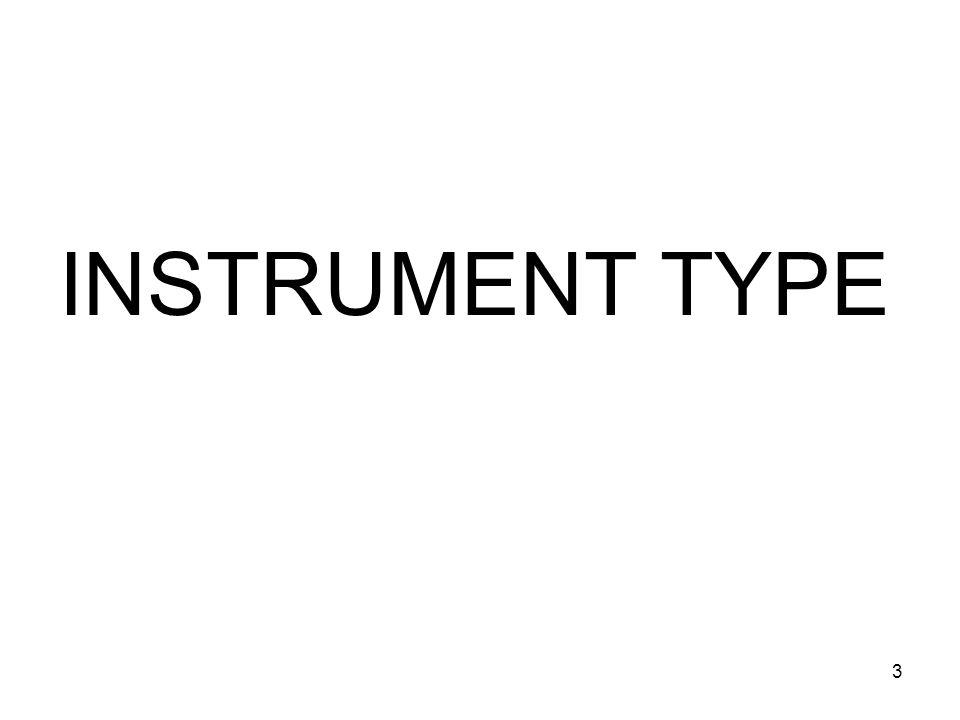 3 INSTRUMENT TYPE