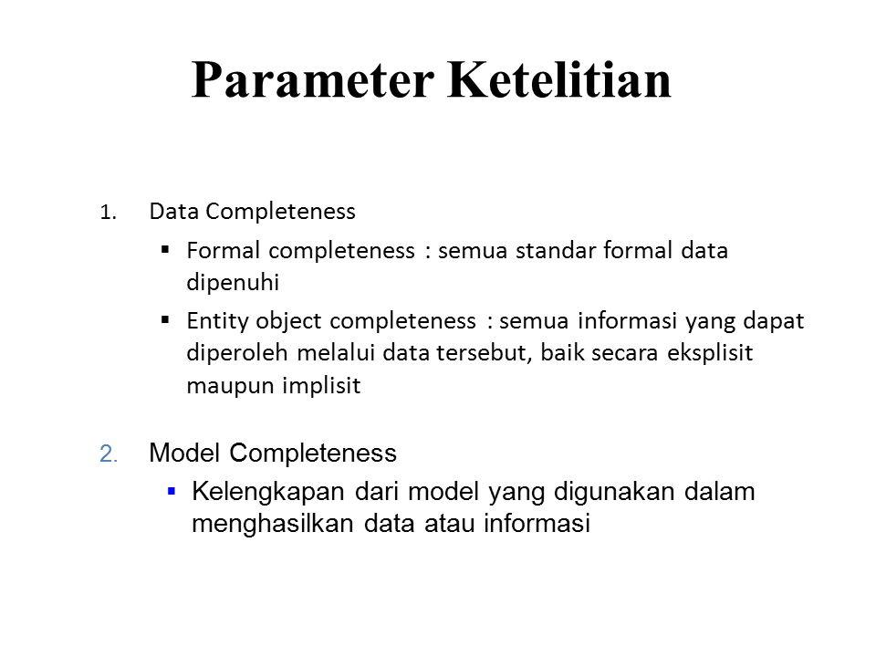 Parameter Ketelitian 1.