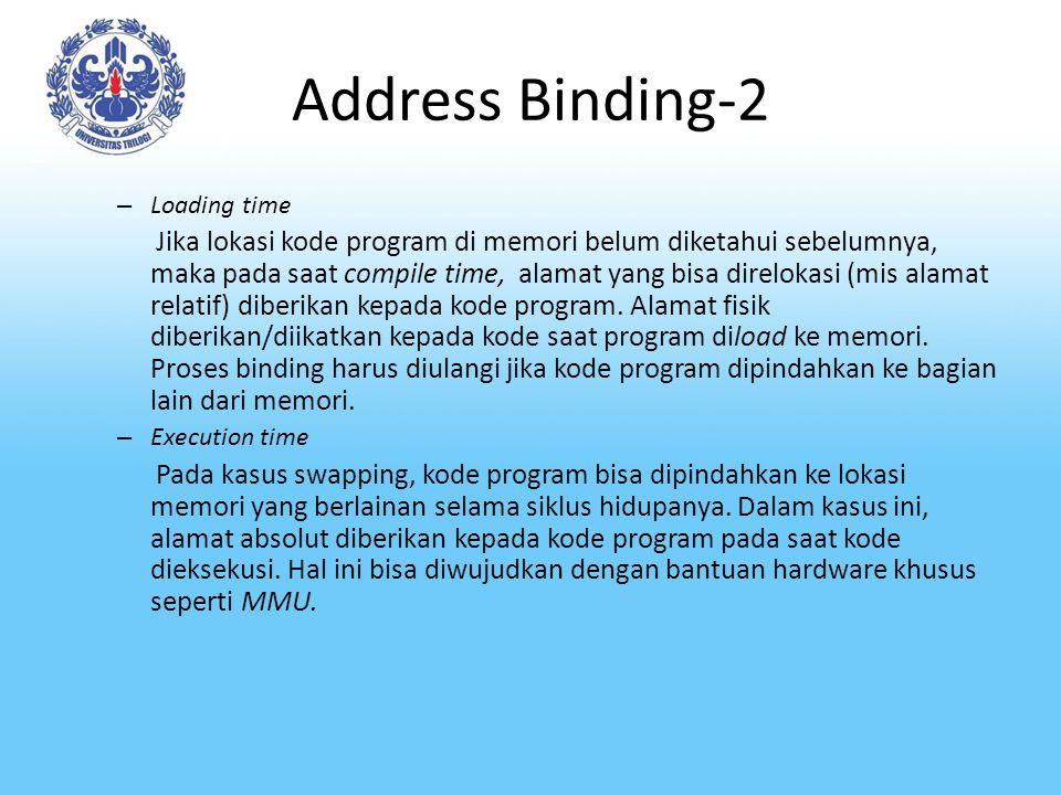 Address Binding-3 Kemungkinan saat terjadinya address binding