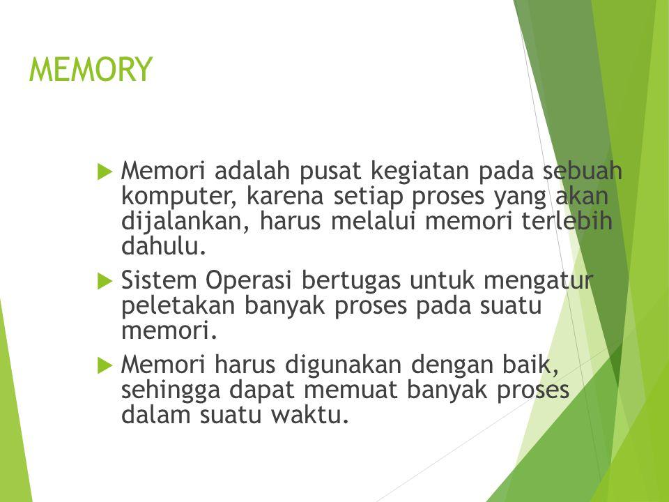  Pada multiprogramming, setiap program yang sedang dijalankan harus dimuat ke dalam memory  Program yang ada di memory harus diproteksi  Setiap program akan di tempatkan pada partisi yang berbeda Manajemen Memory Pemartisian Statis Multiprogramming