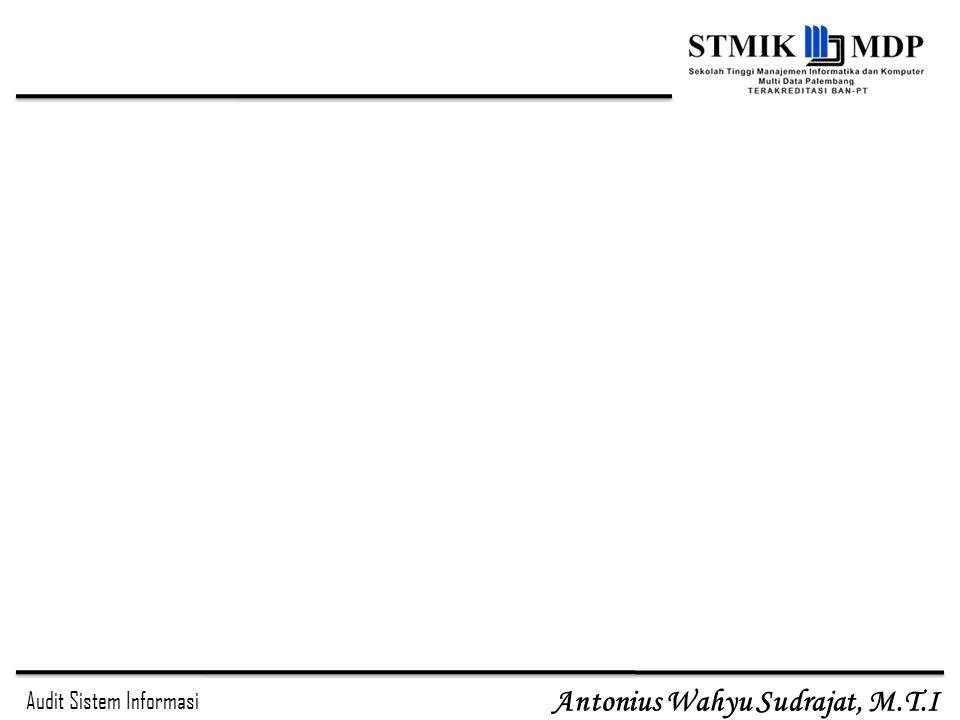 Audit Sistem Informasi Antonius Wahyu Sudrajat, M.T.I