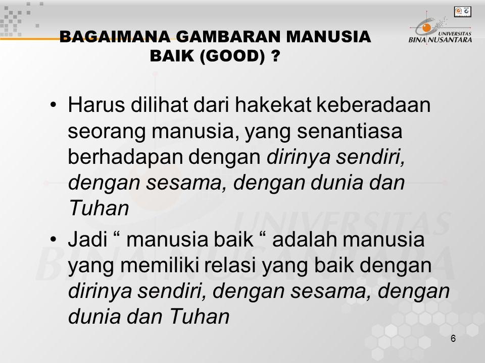 6 BAGAIMANA GAMBARAN MANUSIA BAIK (GOOD) .