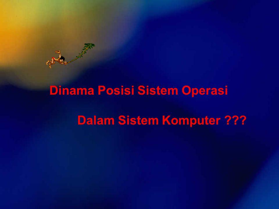 Dinama Posisi Sistem Operasi Dalam Sistem Komputer ???