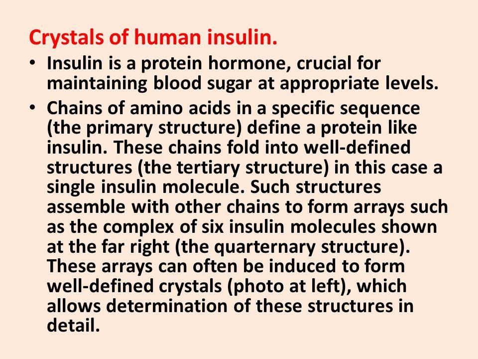 Crystals of human insulin