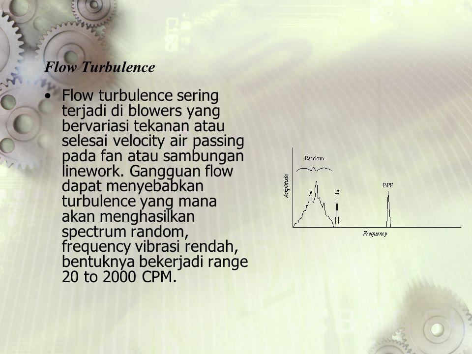 Flow turbulence sering terjadi di blowers yang bervariasi tekanan atau selesai velocity air passing pada fan atau sambungan linework. Gangguan flow da