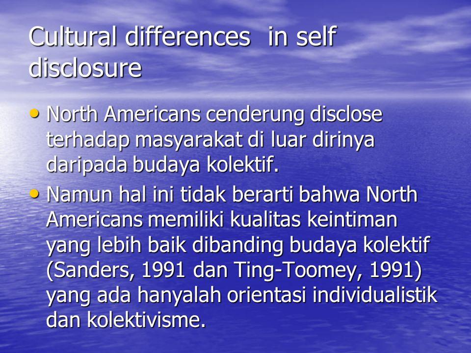 Social penetration theory  Suatu relasi berkembang berdasarkan semakin terbukanya diri individu (self –disclosure) (Altman, dan Dalmas Taylor, 1973).