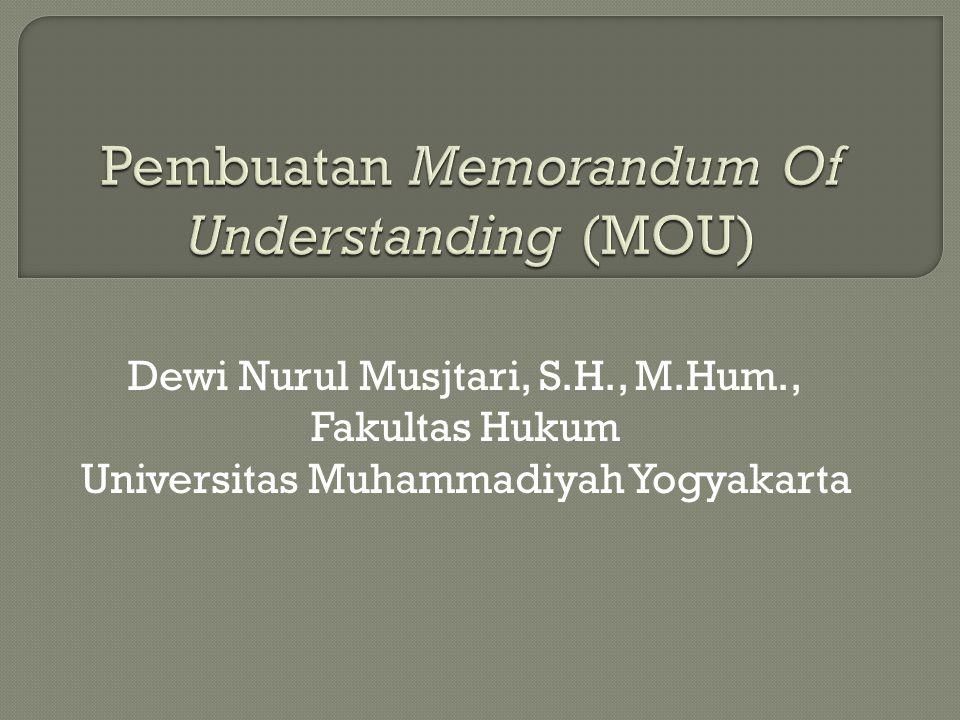 Dewi Nurul Musjtari, S.H., M.Hum., Fakultas Hukum Universitas Muhammadiyah Yogyakarta