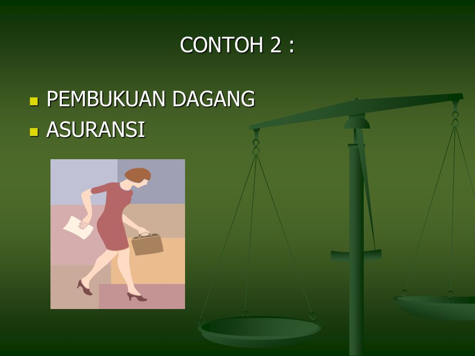 CONTOH 2 : PEMBUKUAN DAGANG PEMBUKUAN DAGANG ASURANSI ASURANSI