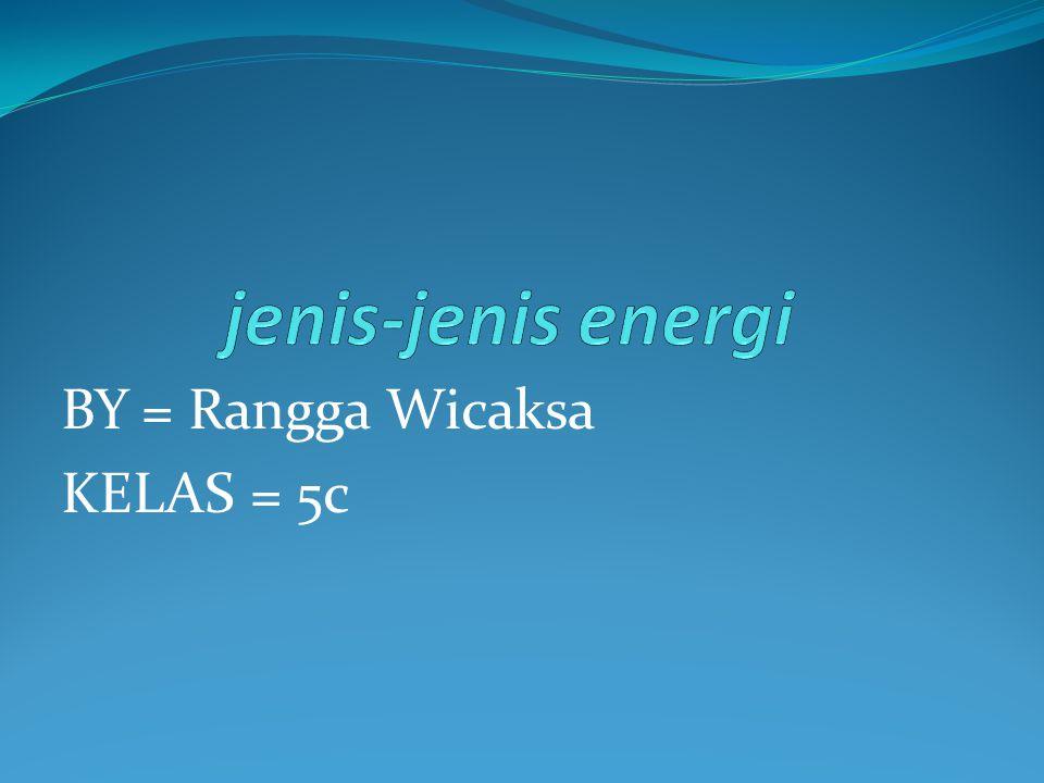 BY = Rangga Wicaksa KELAS = 5c