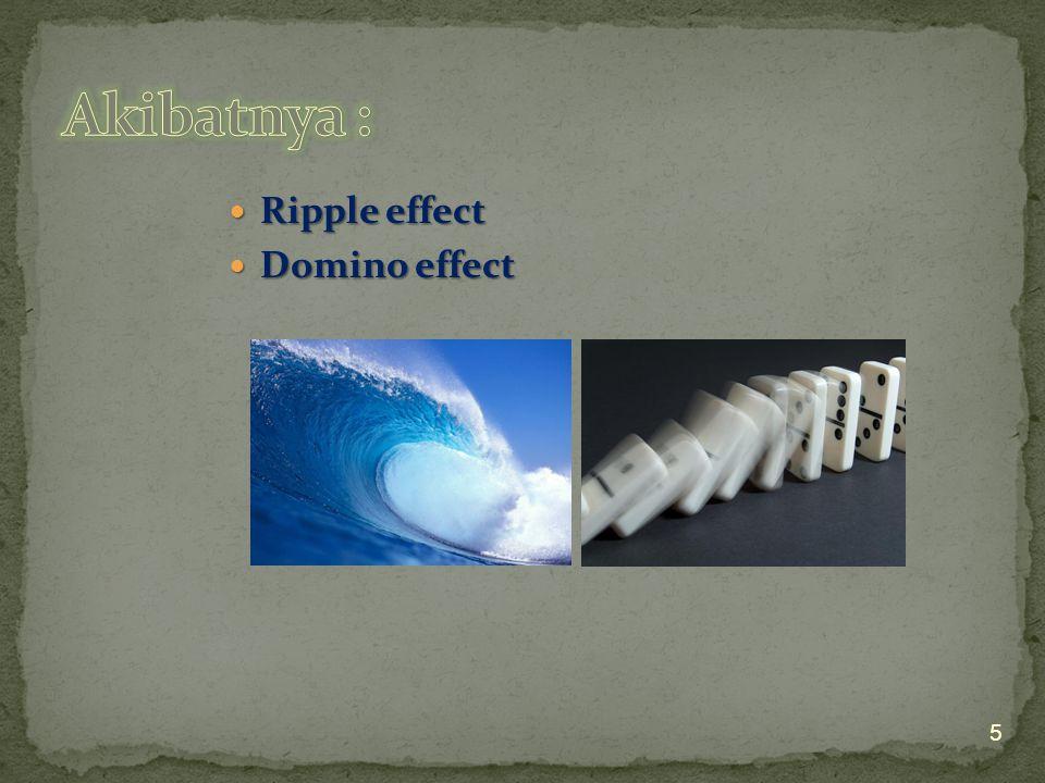 Ripple effect Ripple effect Domino effect Domino effect 5