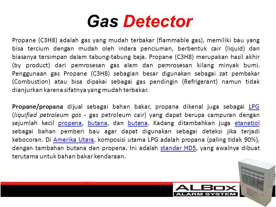 Gas Detector Propane (C3H8) adalah gas yang mudah terbakar (flammable gas), memiliki bau yang bisa tercium dengan mudah oleh indera penciuman, berbent