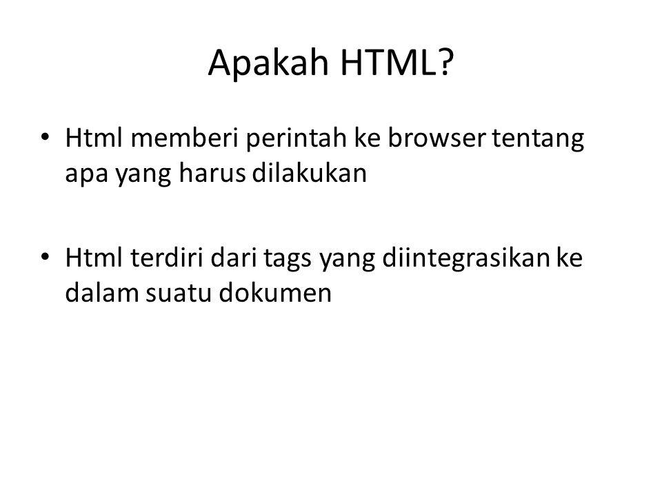 Apakah HTML.