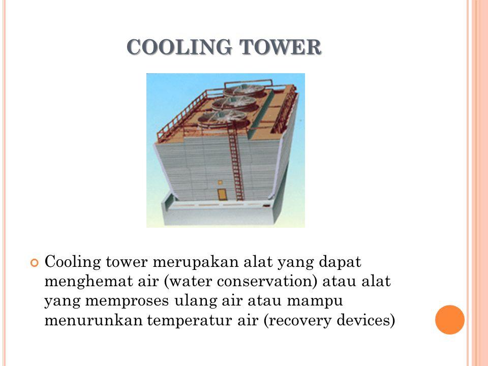 Berdasarkan cara udara bersirkulasi, cooling tower bisa dibedakan menjadi dua jenis yaitu natural draft dan mechanical draft.