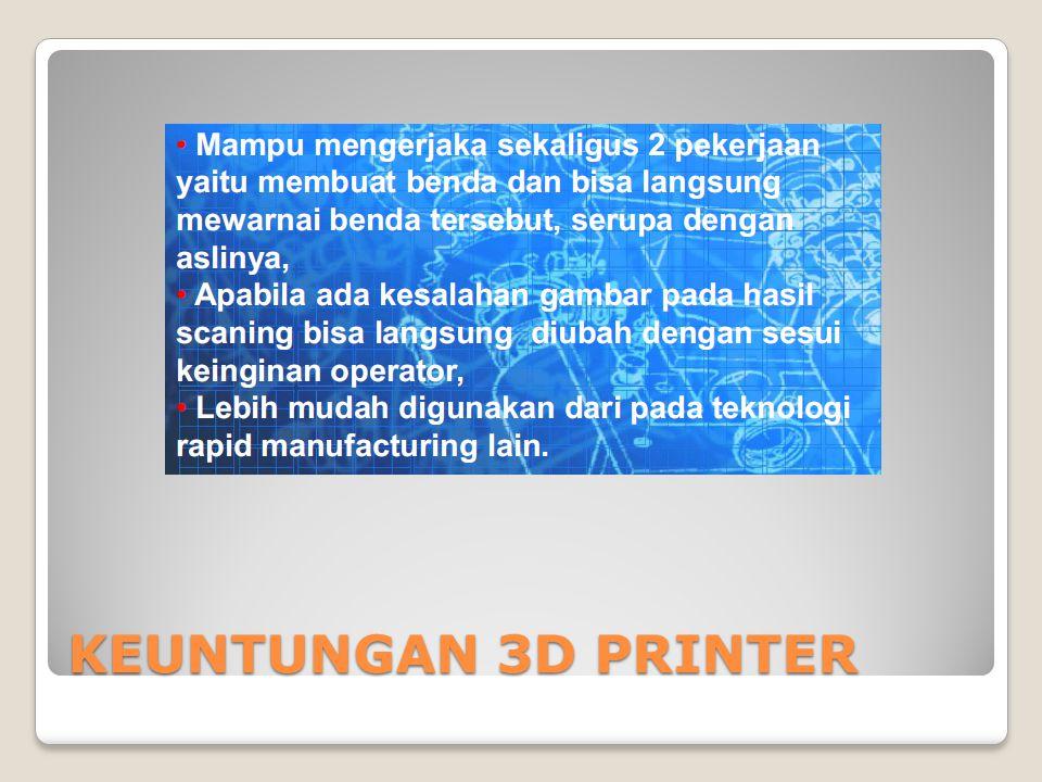 KEUNTUNGAN 3D PRINTER