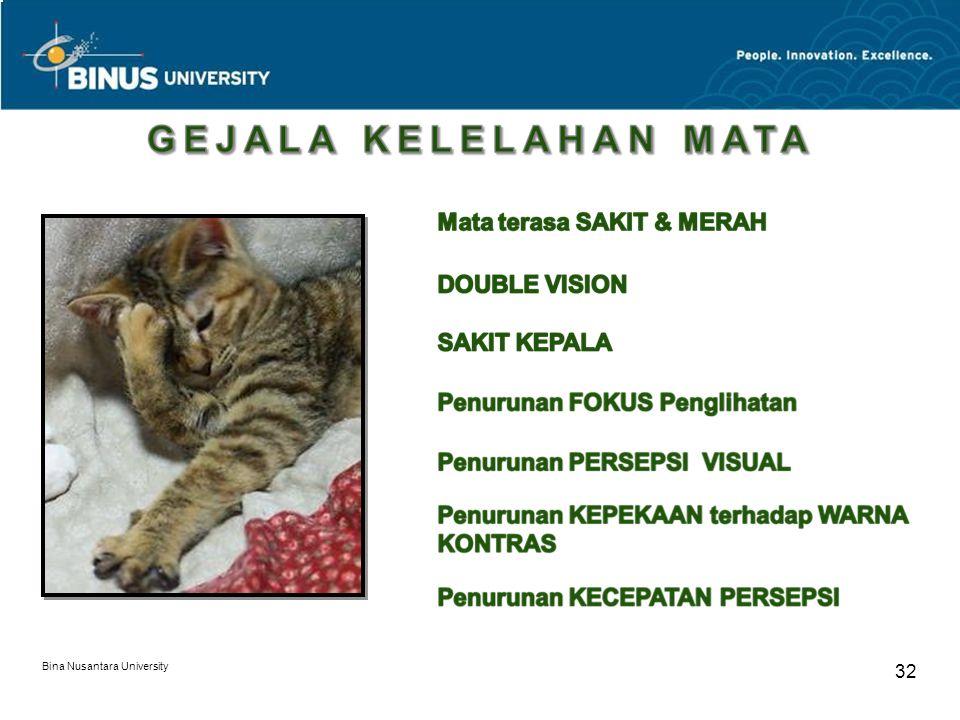Bina Nusantara University 32