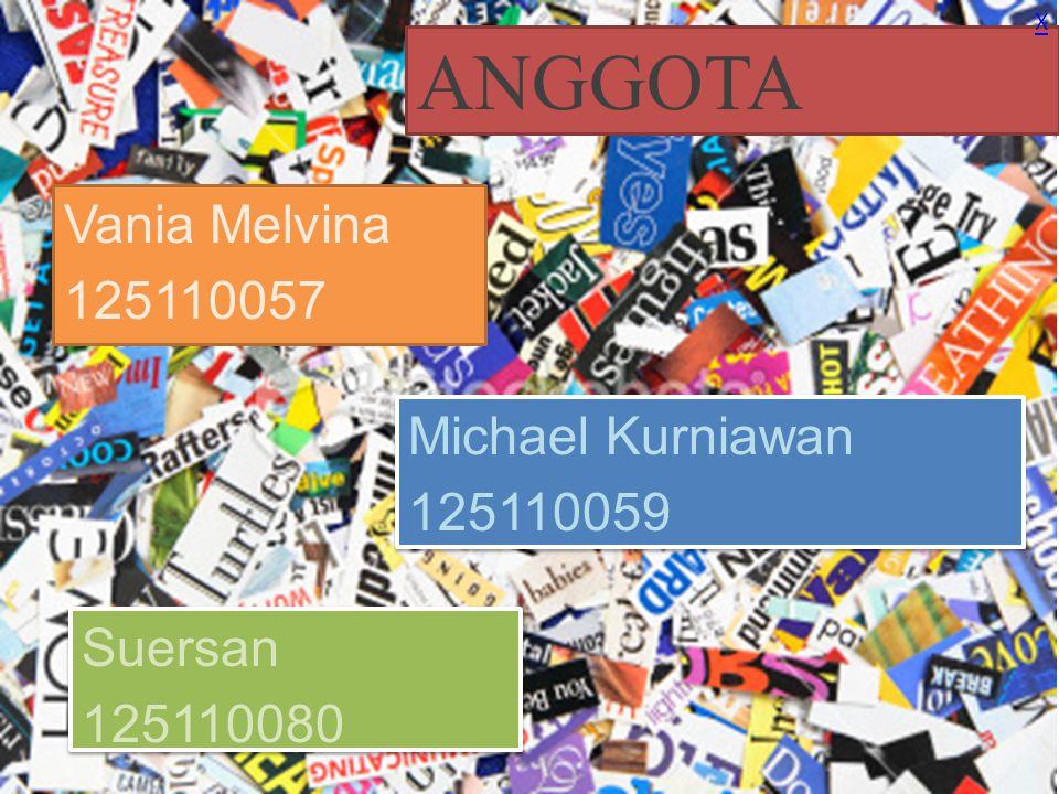 Anggota Dewa A.K Dewi 125110088 Riani Widhia 125110161 Novena Maria 125110299 X