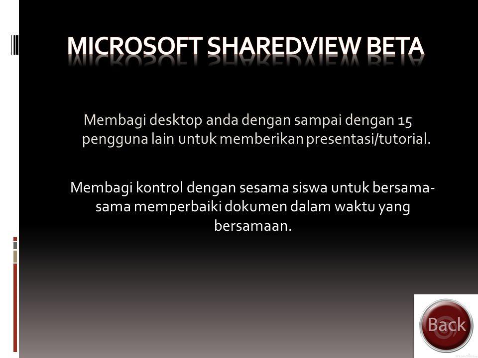 Microsoft Office Live Workspace beta adalah fasilitas dimana guru dan siswa dapat mempunyai suatu wadah online untuk menyimpan, mengakses dan berbagi