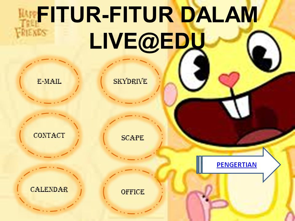 FITUR-FITUR DALAM LIVE@EDU E-MAIL CONTACT OFFICE SCAPE SKYDRIVE CALENDAR PENGERTIAN