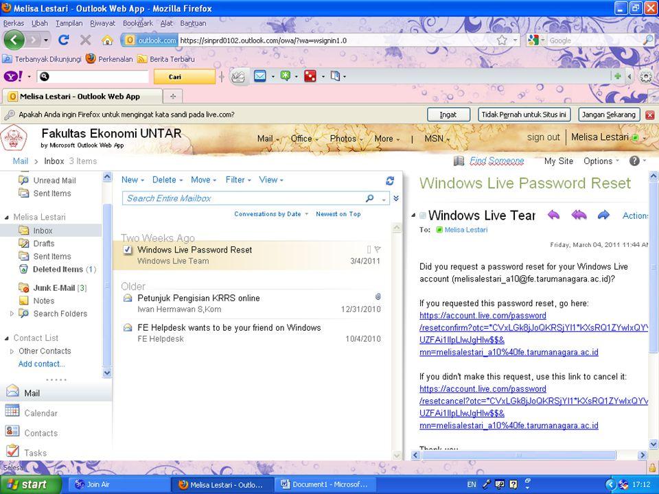 """ADD CONTACT 1. Klik """"add contact"""" 2. Ketik alamat live@edu pada tempat yang tersedia (IM address). Lalu klik invite"""
