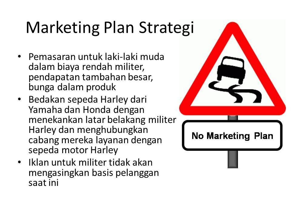 Marketing Plan Strategi Pemasaran untuk laki-laki muda dalam biaya rendah militer, pendapatan tambahan besar, bunga dalam produk Bedakan sepeda Harley