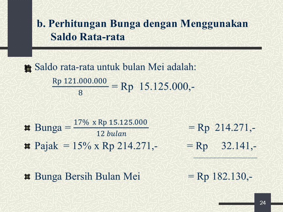 b. Perhitungan Bunga dengan Menggunakan Saldo Rata-rata 24