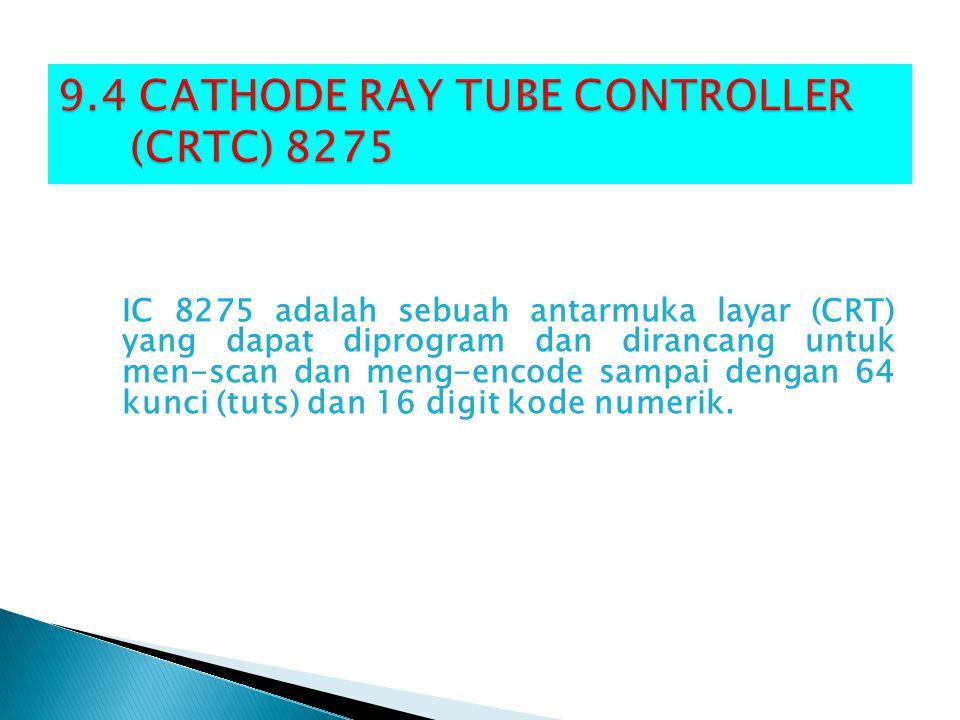 IC 8275 adalah sebuah antarmuka layar (CRT) yang dapat diprogram dan dirancang untuk men-scan dan meng-encode sampai dengan 64 kunci (tuts) dan 16 dig